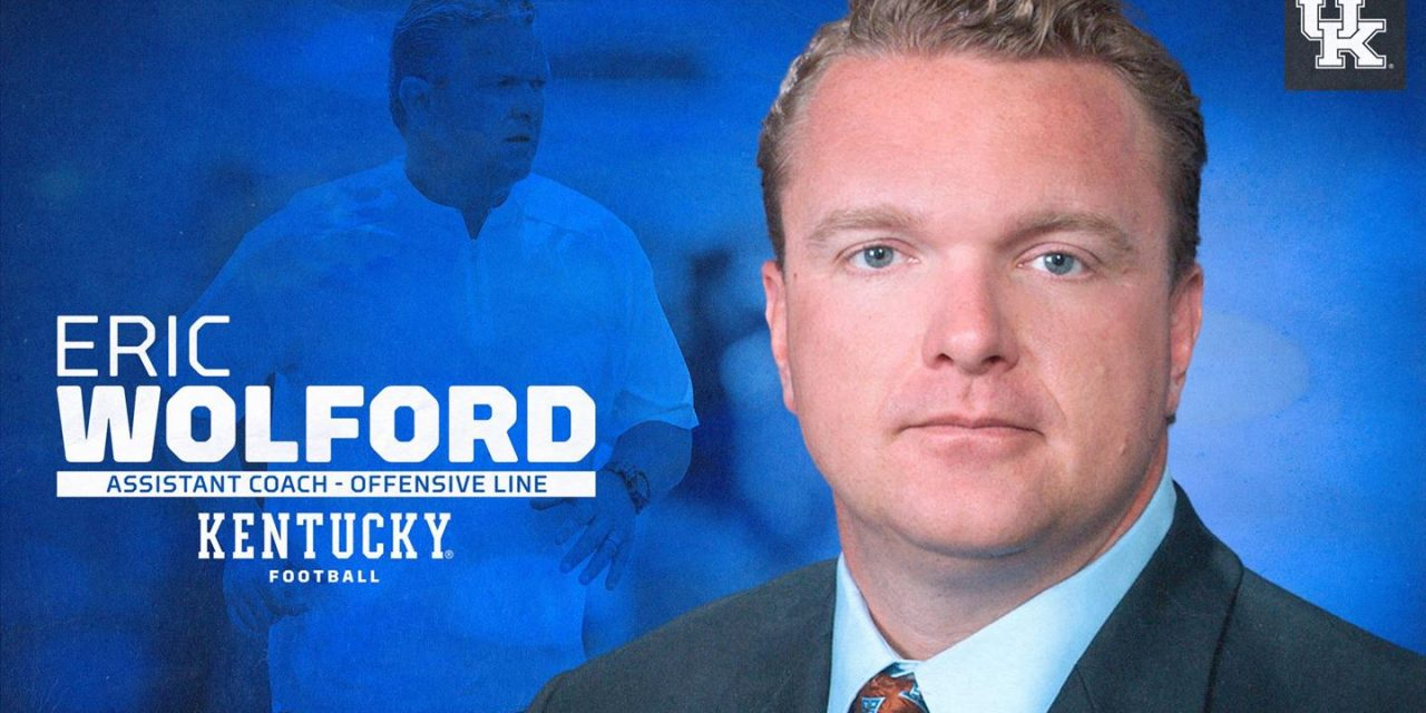 Kentucky hires Eric Wolford as offensive line coach