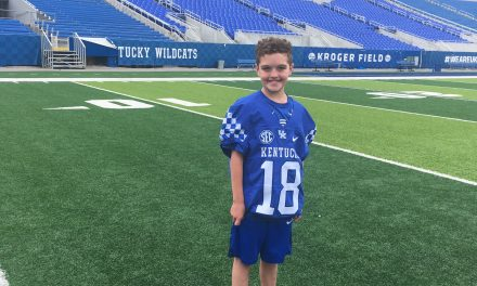 11-year old Luke Klausing signs with Kentucky Football
