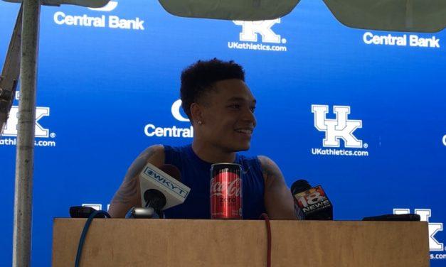 Kentucky Football players talk after earning a scholarship