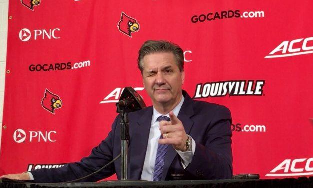 John Calipari after Kentucky's win over Louisville