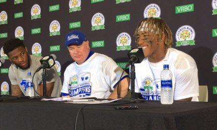 Stoops, Snell, Allen, Daniel, Conrad, Wilson post Citrus Bowl win