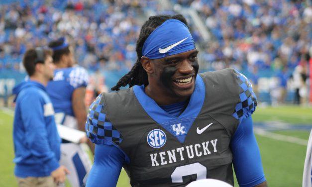 Kentucky players on UK Football Media Day