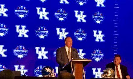 Mark Stoops at SEC Media Days