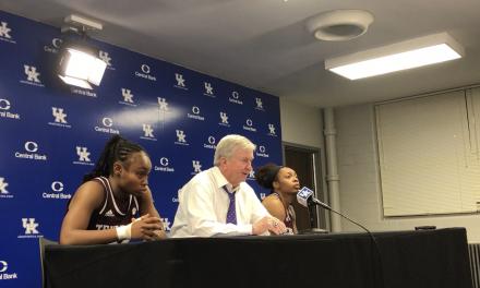 Texas A&M's Gary Blair, McKinzie Green & Shambria Washington, talk loss to Kentucky