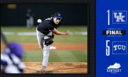 Kentucky Baseball falls to TCU in season opener