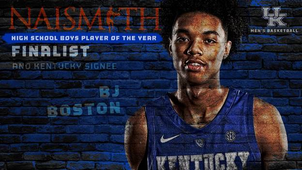 Kentucky signee BJ Boston Named Naismith Trophy Finalist