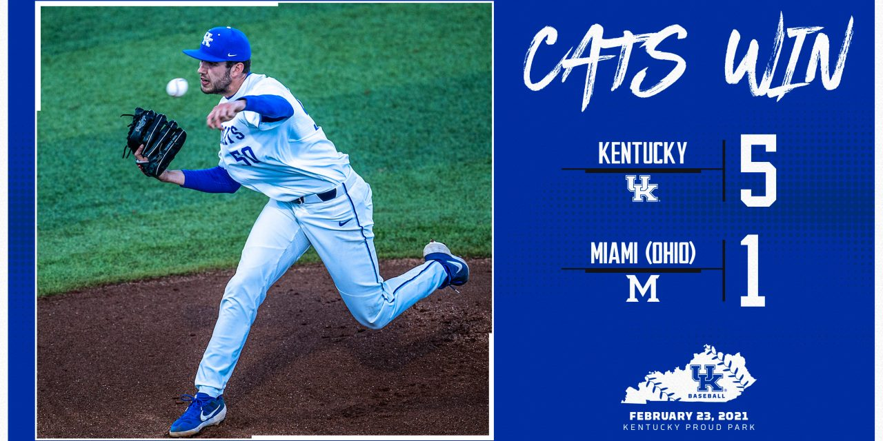 Kentucky Baseball beats Miami (OH) in season opener